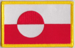 Greenland Embroidered Flag Patch, style 08.